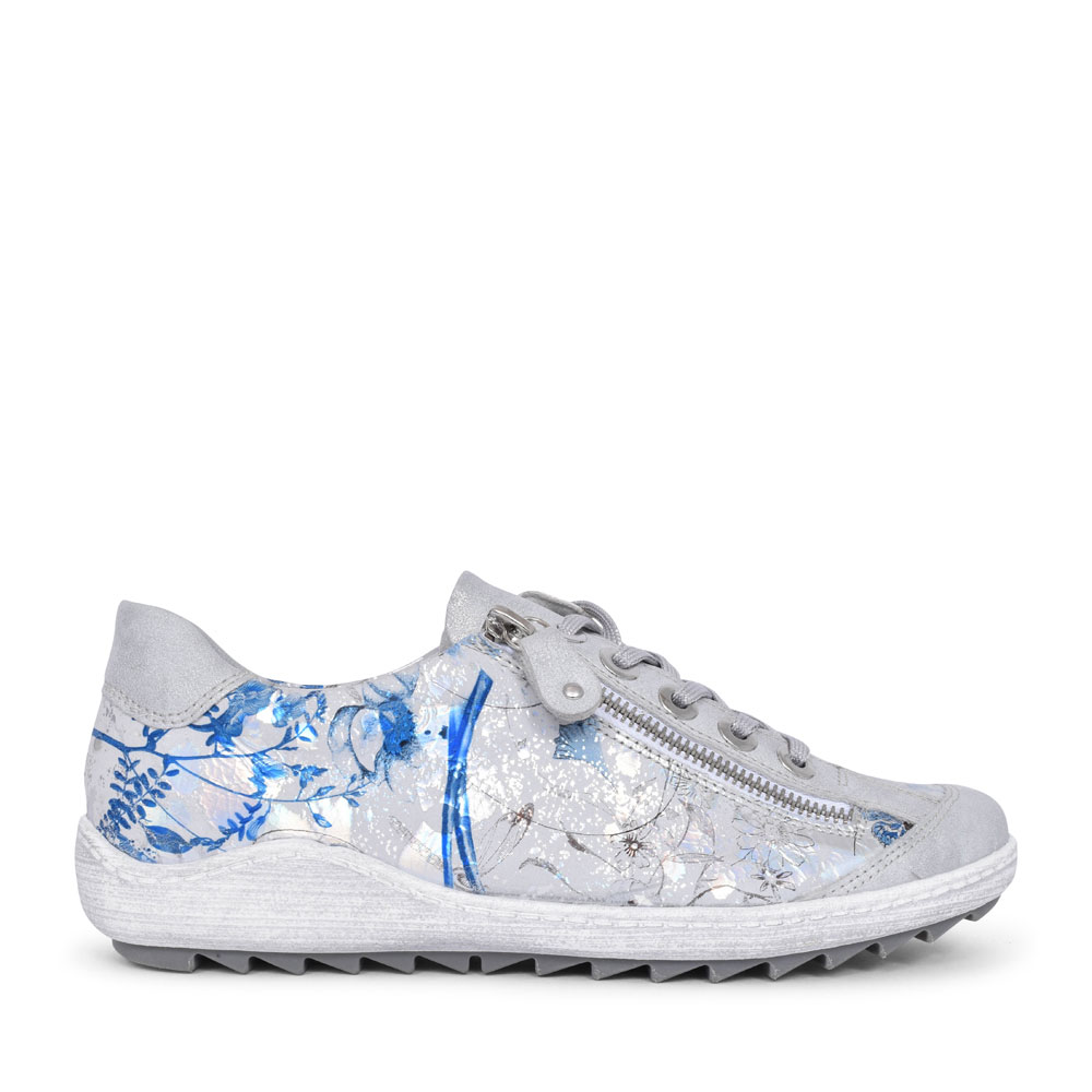 R1402 FLORAL TRAINER FOR LADIES in SILVER