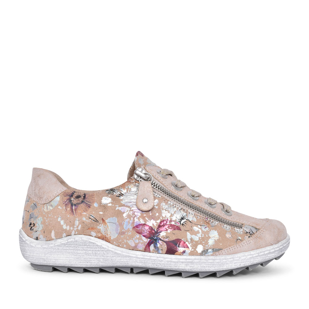 R1402 FLORAL TRAINER FOR LADIES in NUDE