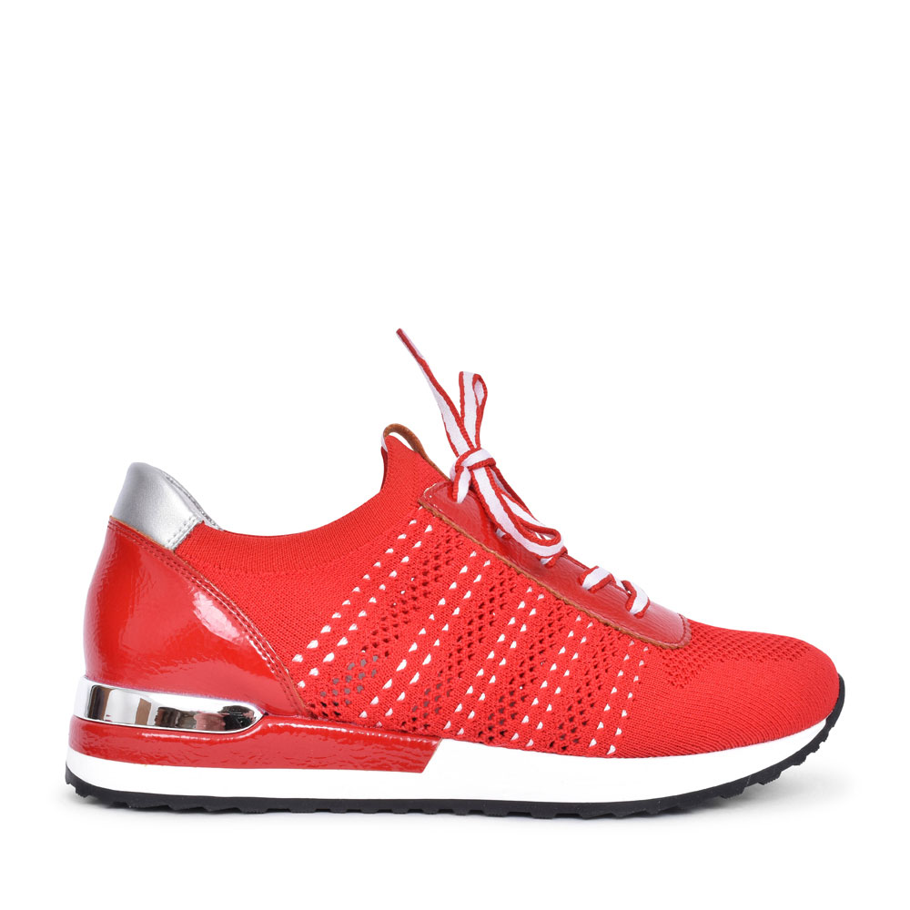 LADIES R2507 LACED TRAINER in RED