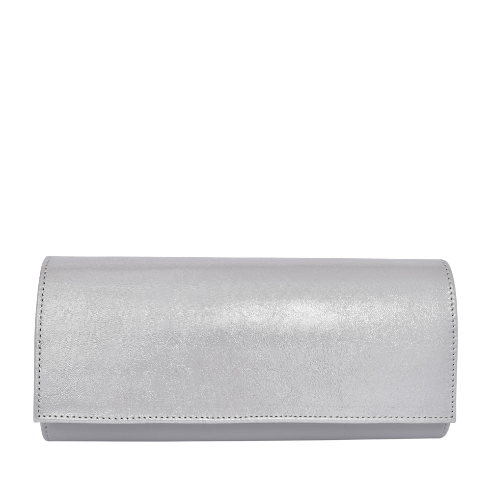 LADIES T1 MIX CLUTCH BAG  in SILVER
