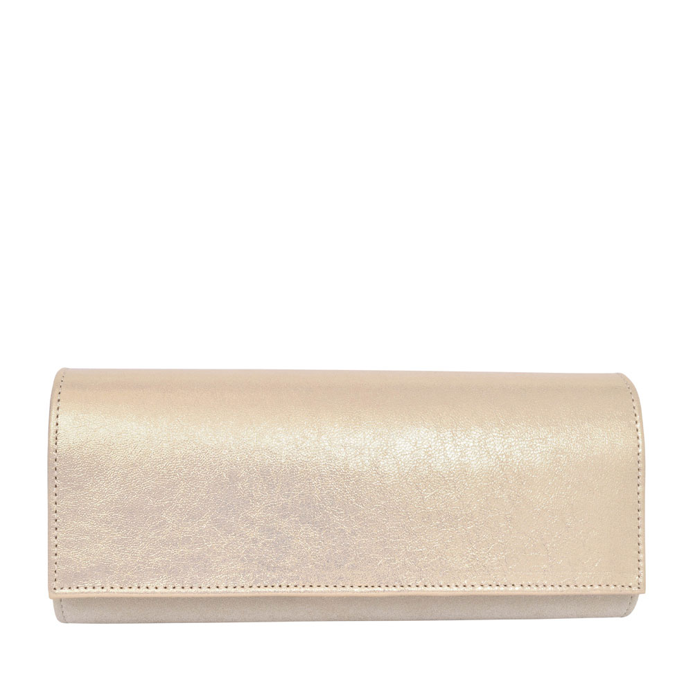 LADIES T1 MIX CLUTCH BAG  in GOLD