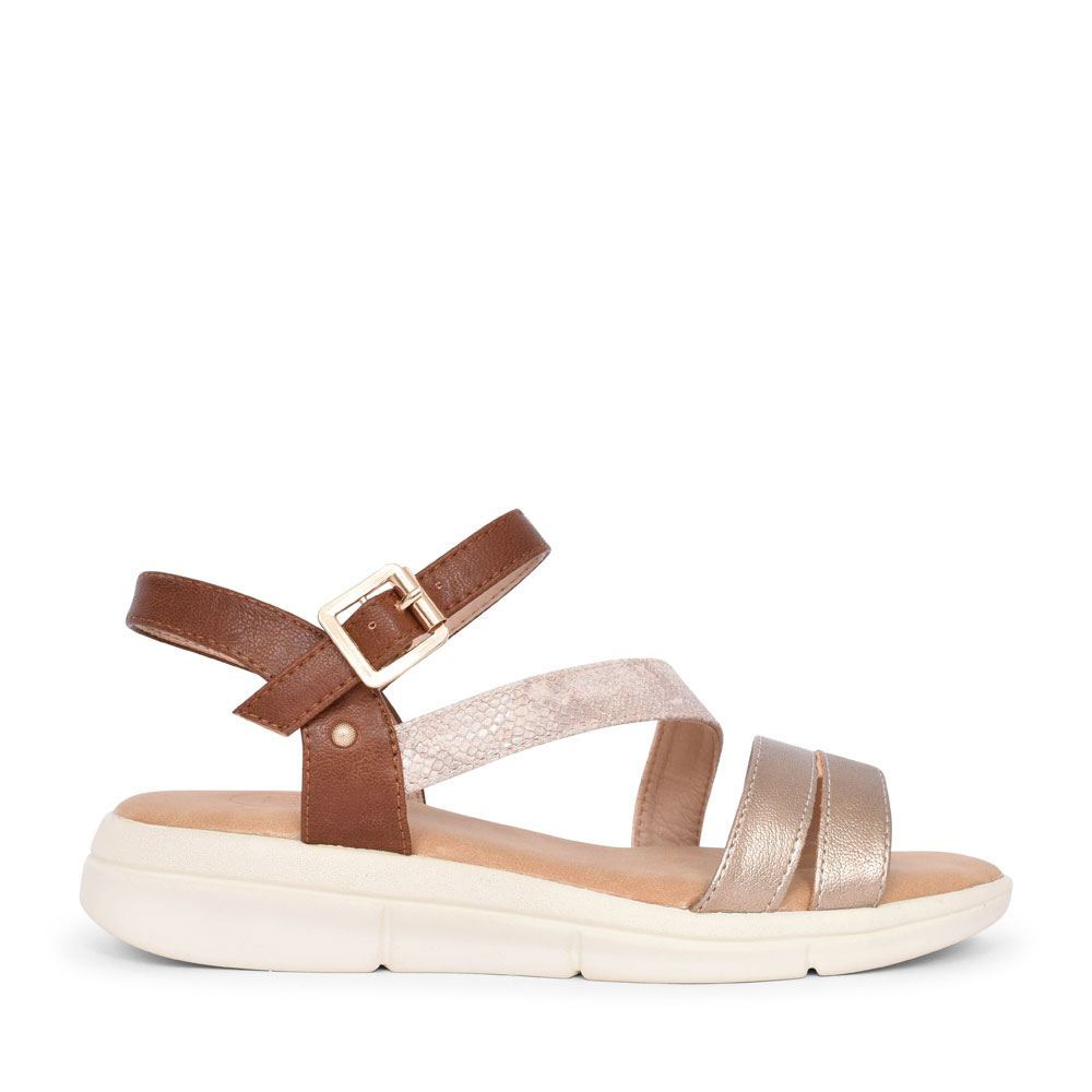 LADIES GIRSO CASUAL ANKLE STRAP SANDAL in ROSE