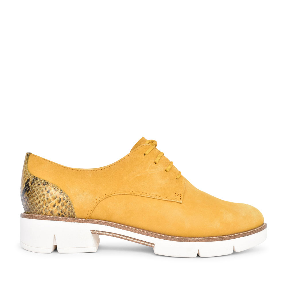 LADIES 1-23703 CASUAL LACED SHOE in YELLOW