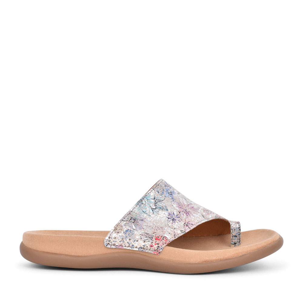 LADIES LANZAROTE 43.700 LOOP TOE MULE in MULTI-COLOUR