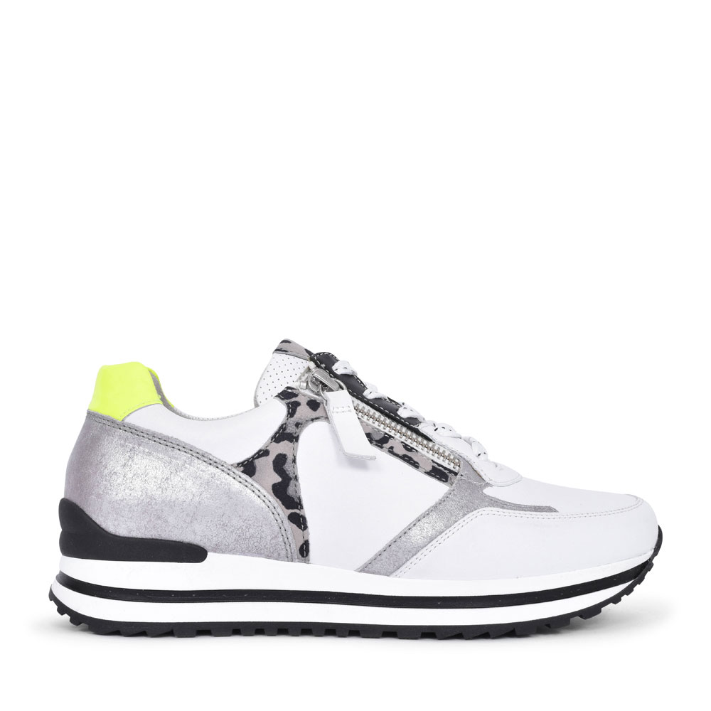 LADIES NEPAL 46.525 LACE & ZIP FASTENED TRAINER in ANIMAL