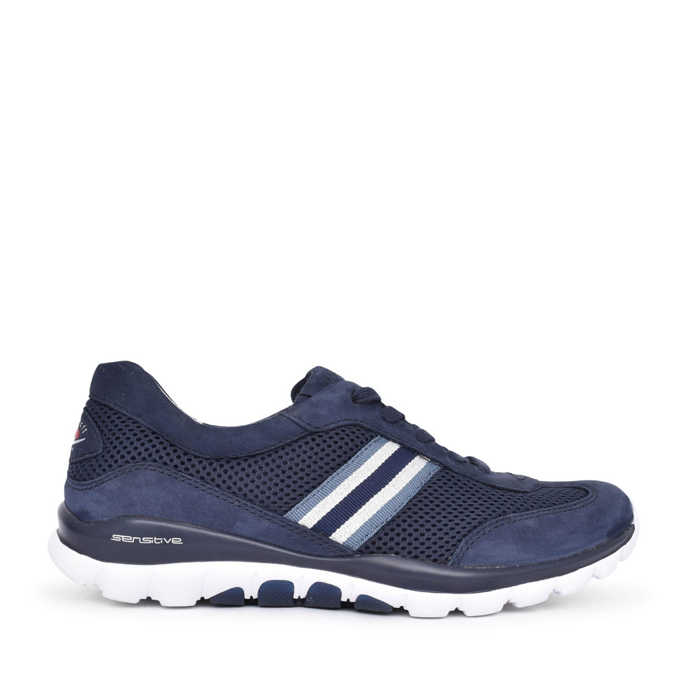 LADIES HELEN 46.966 ROLLING SOFT LACED TRAINER in NAVY