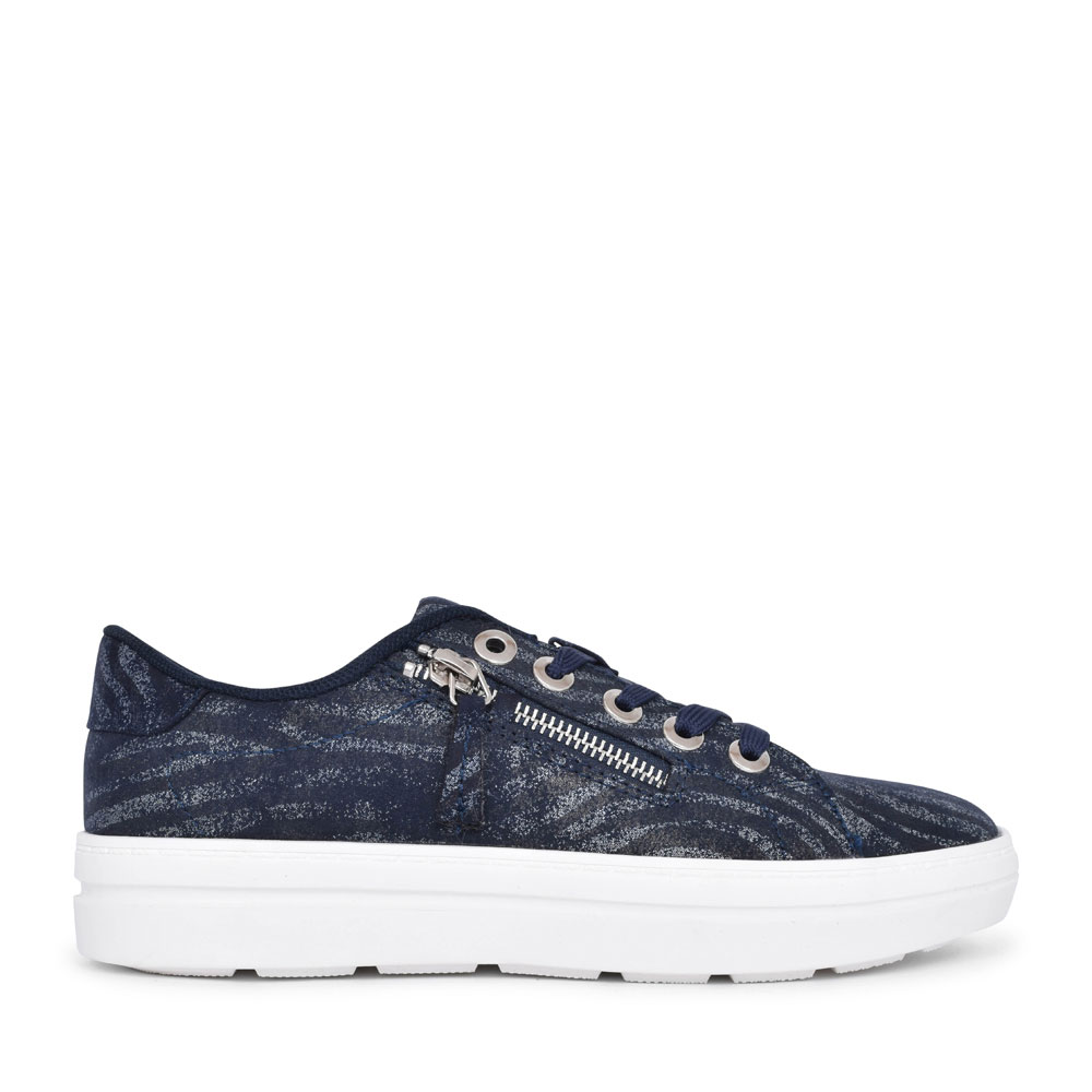 LADIES 501683 CASUAL LACED TRAINER in NAVY