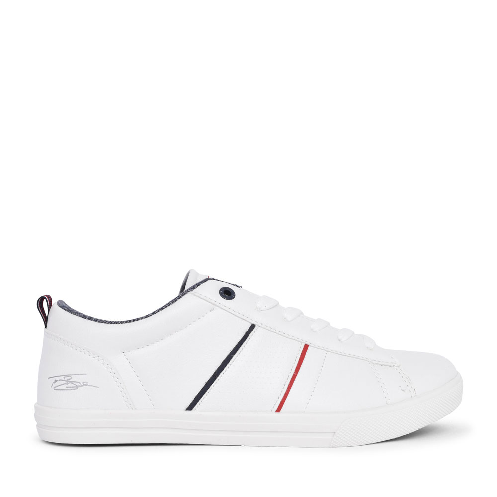 MEN'S CASUAL LACED TRAINER  in WHITE