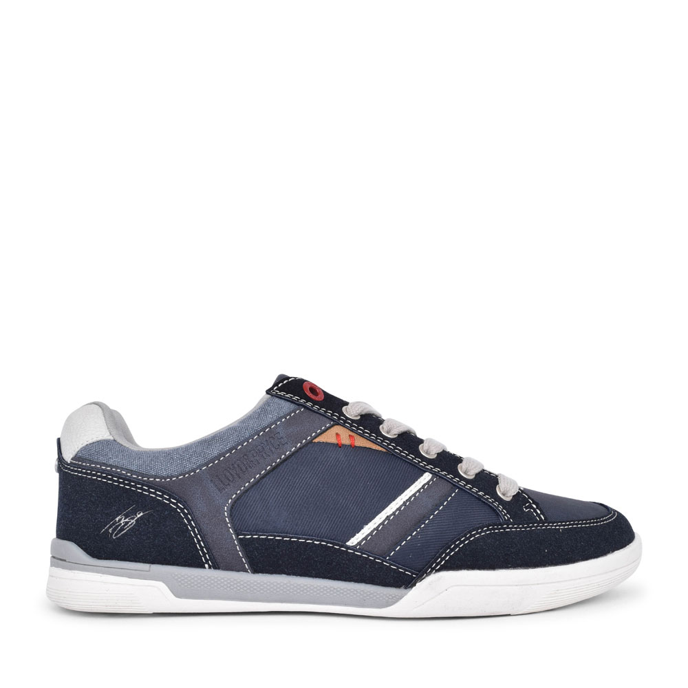 MEN'S CASUAL LACED TRAINER  in NAVY