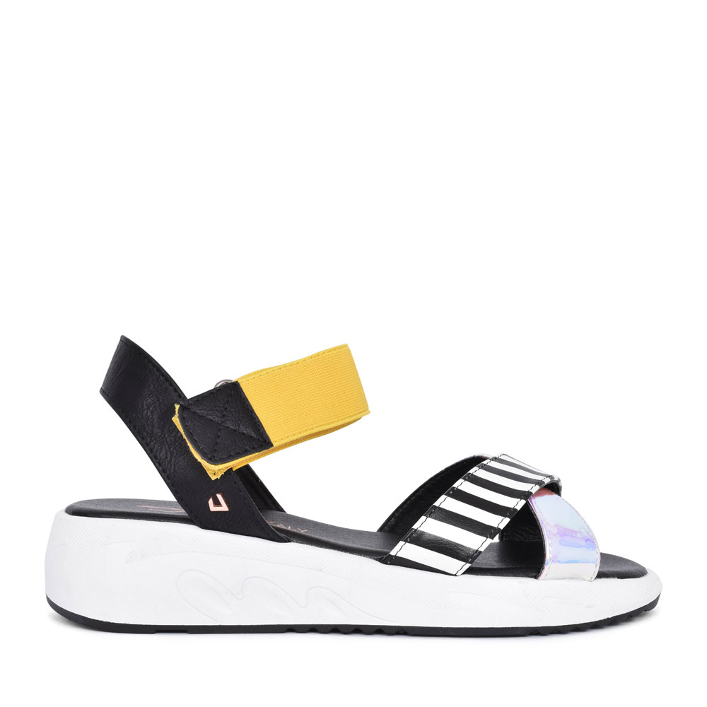 LADIES NICE THINGS CASUAL HOLOGRAPHIC SANDAL in MULTI-COLOUR