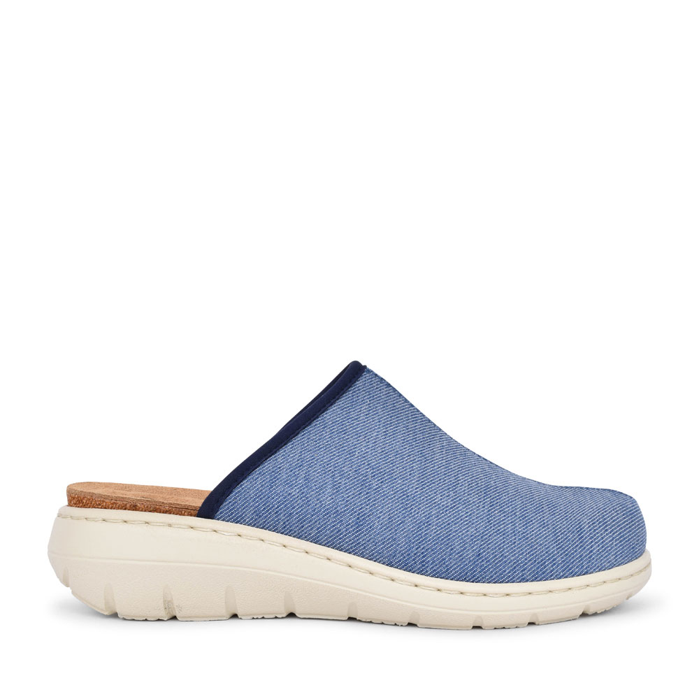LADIES 2V CASTLETOWN CASUAL MULE SHOE in DENIM