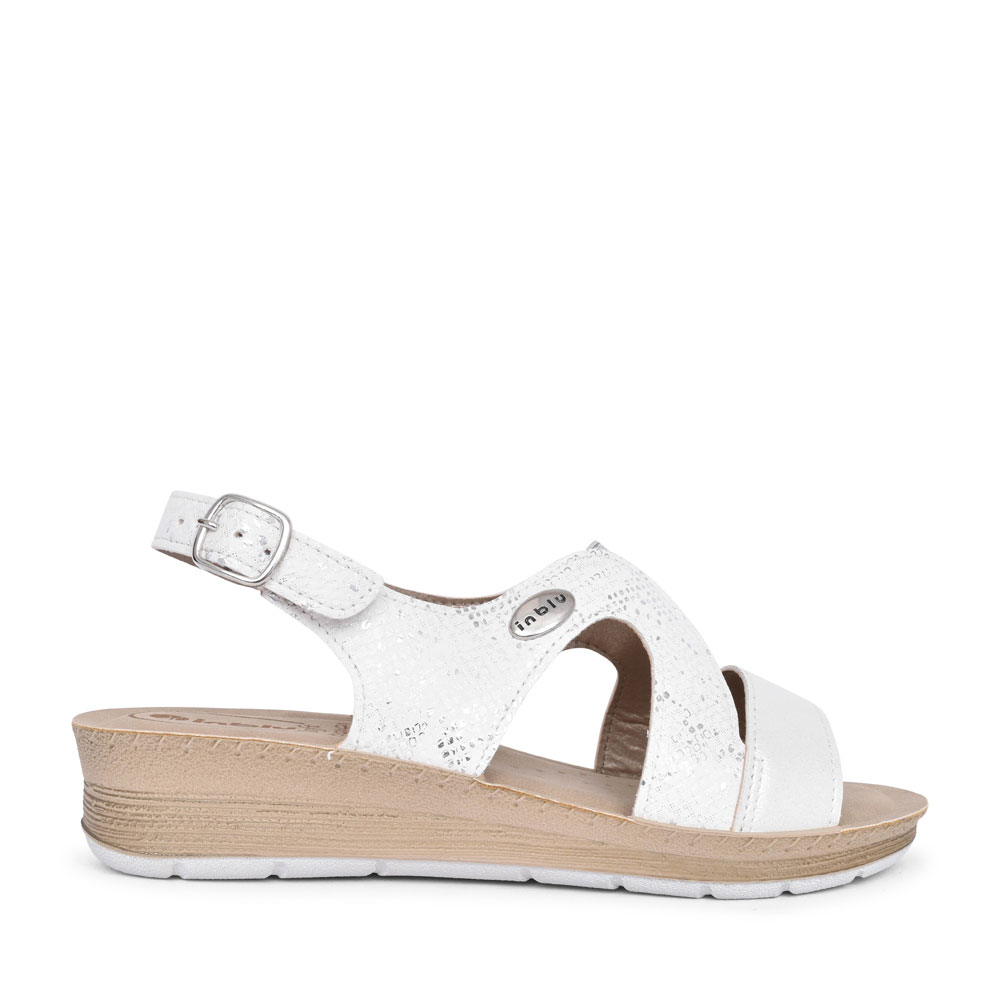 LADIES FC000036 CASUAL SLING BACK SANDAL in WHITE