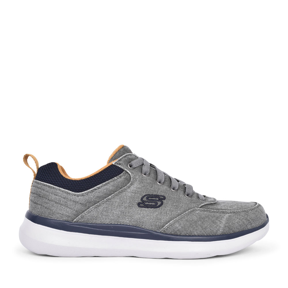 MEN'S 210024 CHAR DELSON 2.0 LACED TRAINER in DARK GREY