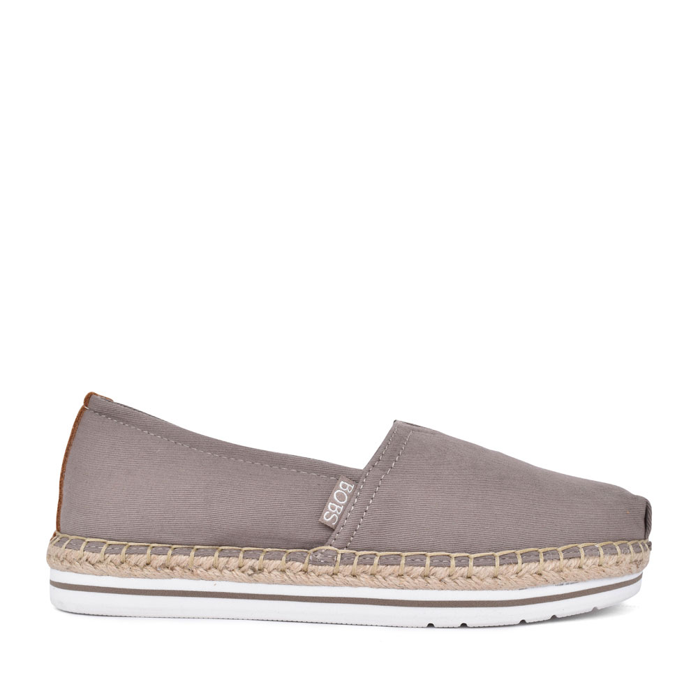 LADIES 32719 BOBS BREEZE SLIP ON SHOE in TAUPE