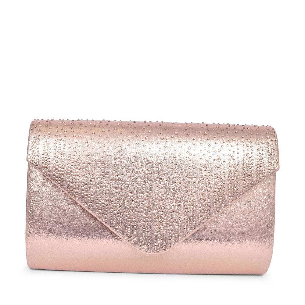 LADIES ZLR555 RUTHIN CLUTCH BAG in ROSE