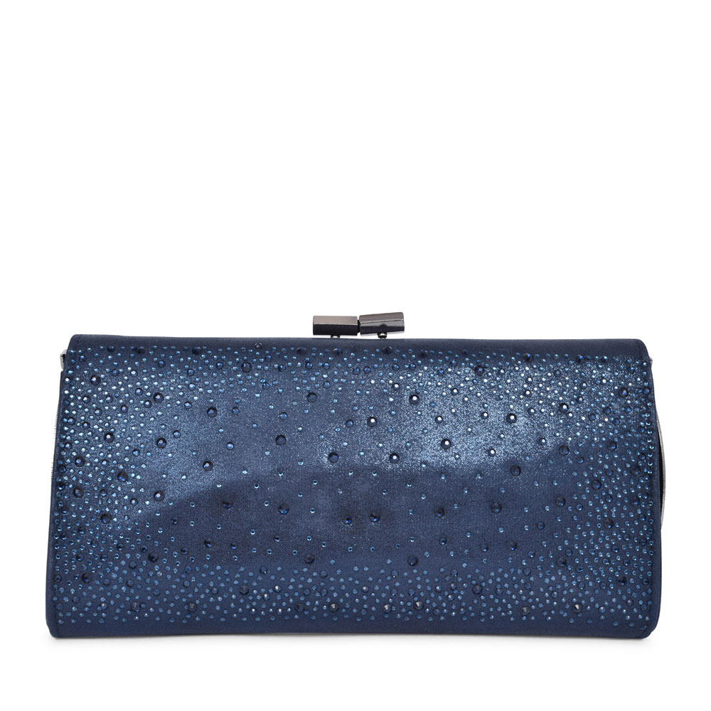 LADIES CHANDRA ULG014 EMBELLISHED CLUTCH BAG in NAVY