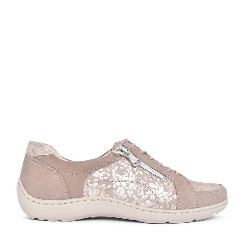 LADIES 496042 HENNI CASUAL LACED SHOE in BEIGE