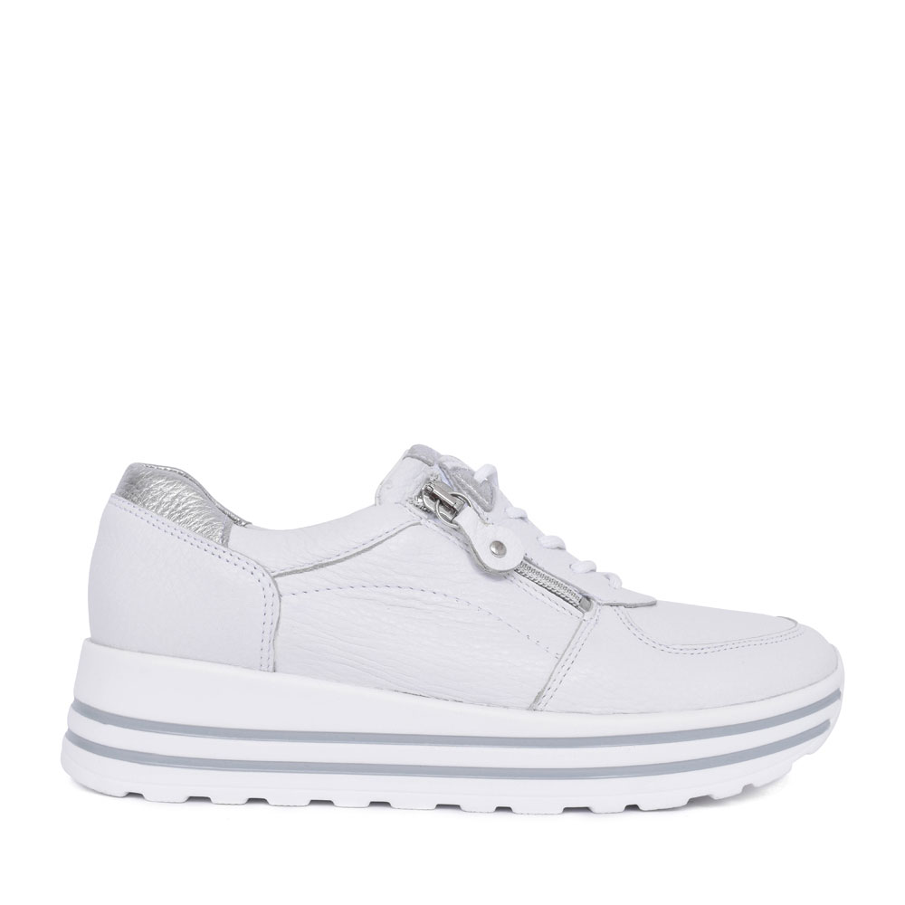 LADIES 758001 H-LANA LACED TRAINER in WHITE