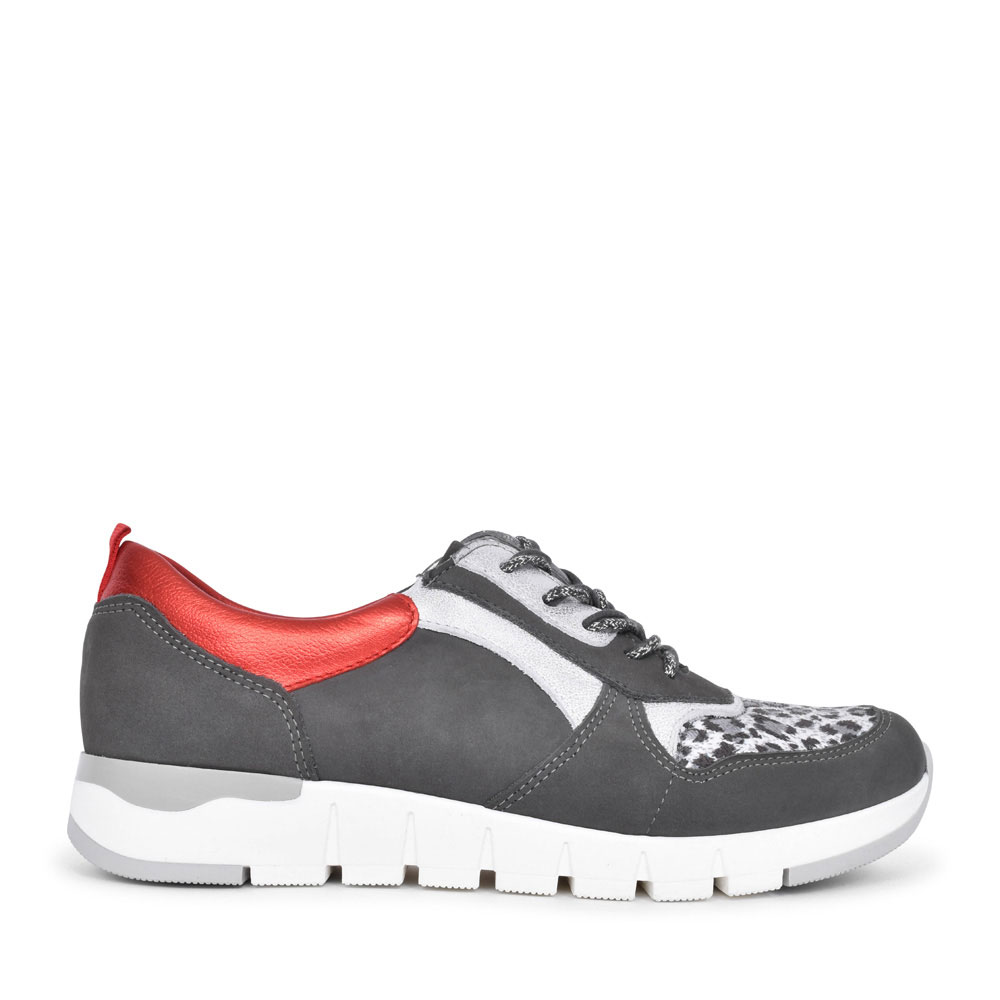 LADIES 908H02 H-PETRA LACED TRAINER in GREY