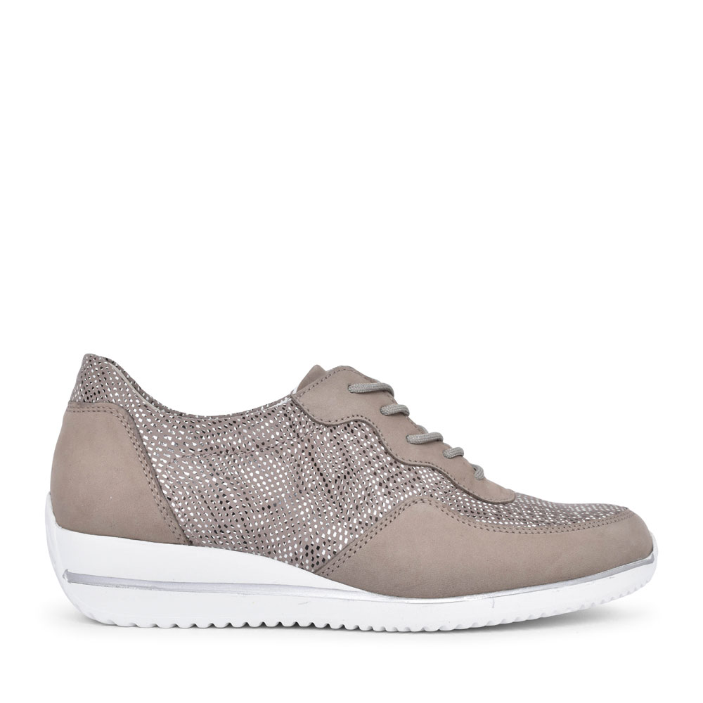 980001 HIMONA LACED TRAINER FOR LADIES in BEIGE