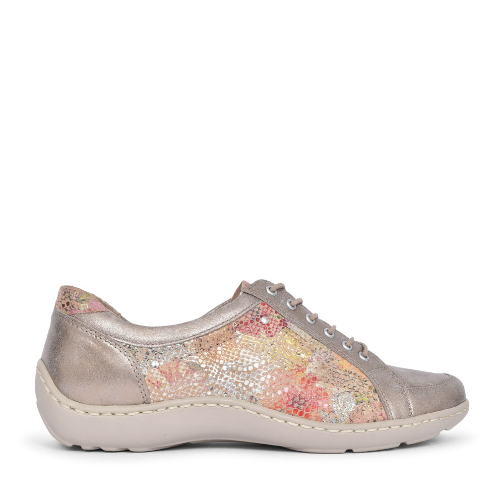 496005 HENNI LACED TRAINER FOR LADIES in GOLD