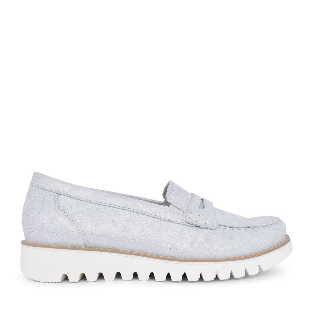 926504 HABEA MOCCASIN SHOE FOR LADIES in SILVER