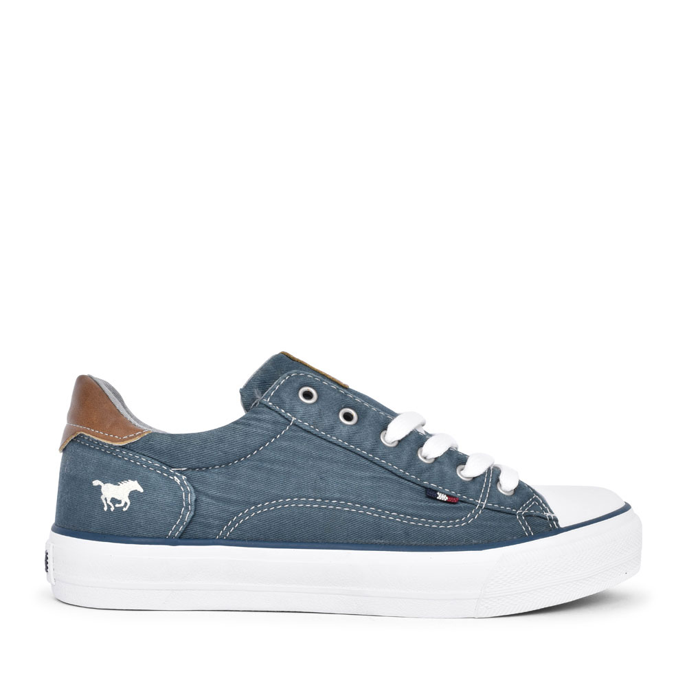 LADIES 1272301 CASUAL LACED TRAINER in PETROL