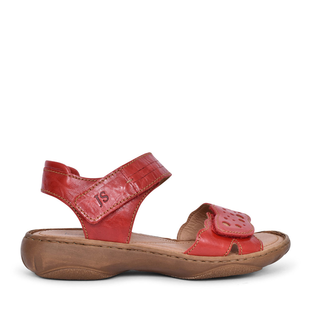 LADIES 76755 DEBRA 55 VELCRO SANDAL in RED