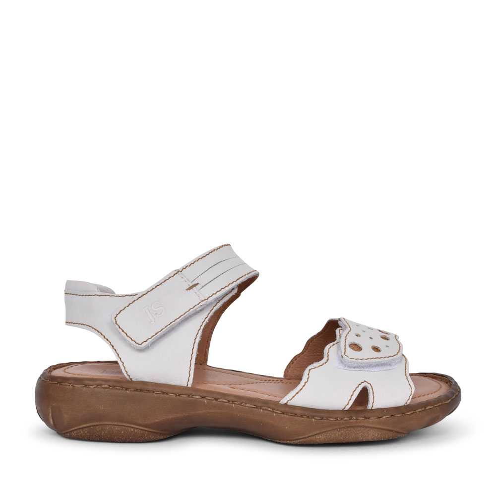LADIES 76755 DEBRA 55 VELCRO SANDAL in WHITE