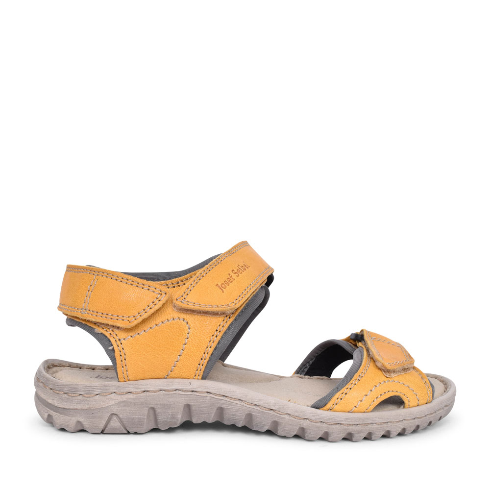 LADIES 63815 LUCIA 15 VELCRO WALKING SANDAL in MUSTARD