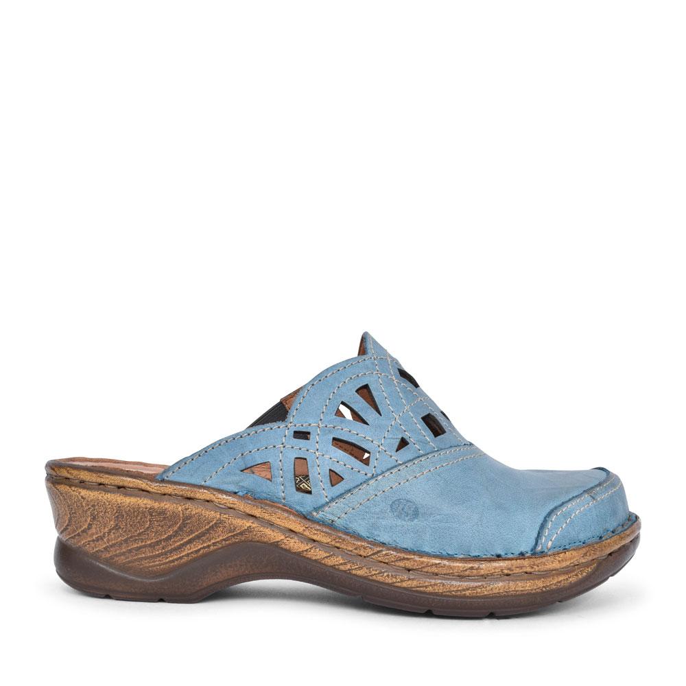 LADIES 56541 CATALONIA 41 LOW HEEL MULE in BLUE