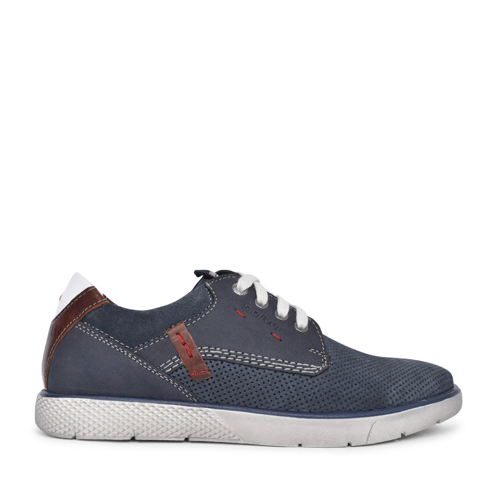 MEN 5-13600 CASUAL LACED SHOE in NAVY