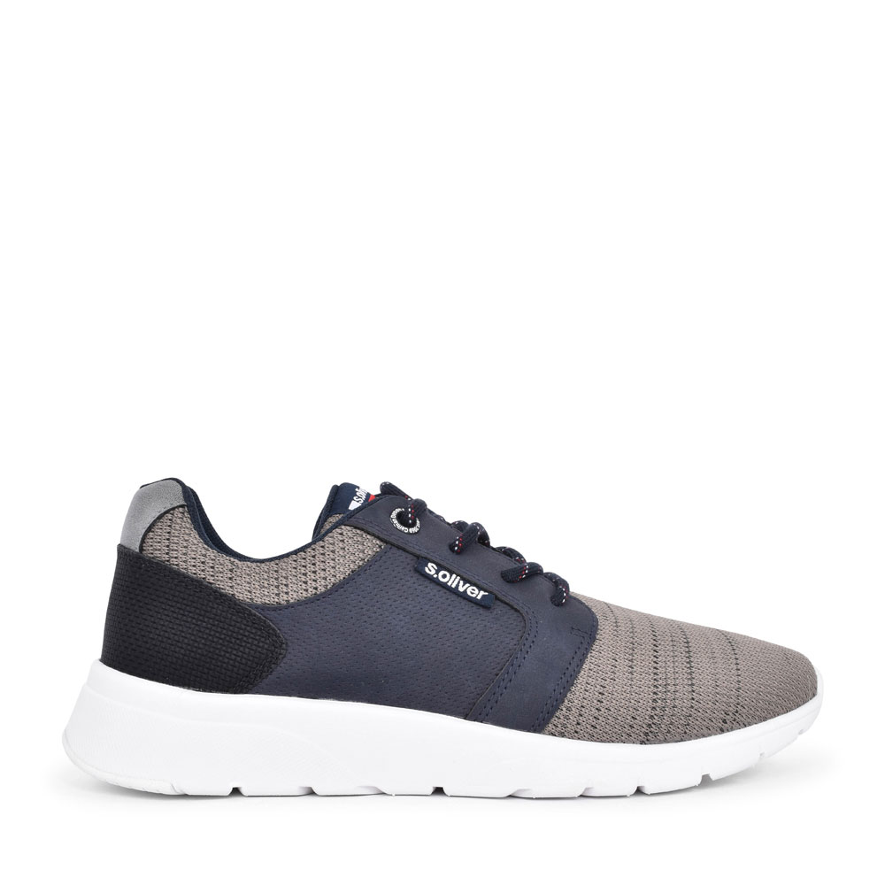 MEN 5-13618 CASUAL LACED TRAINER in NAVY