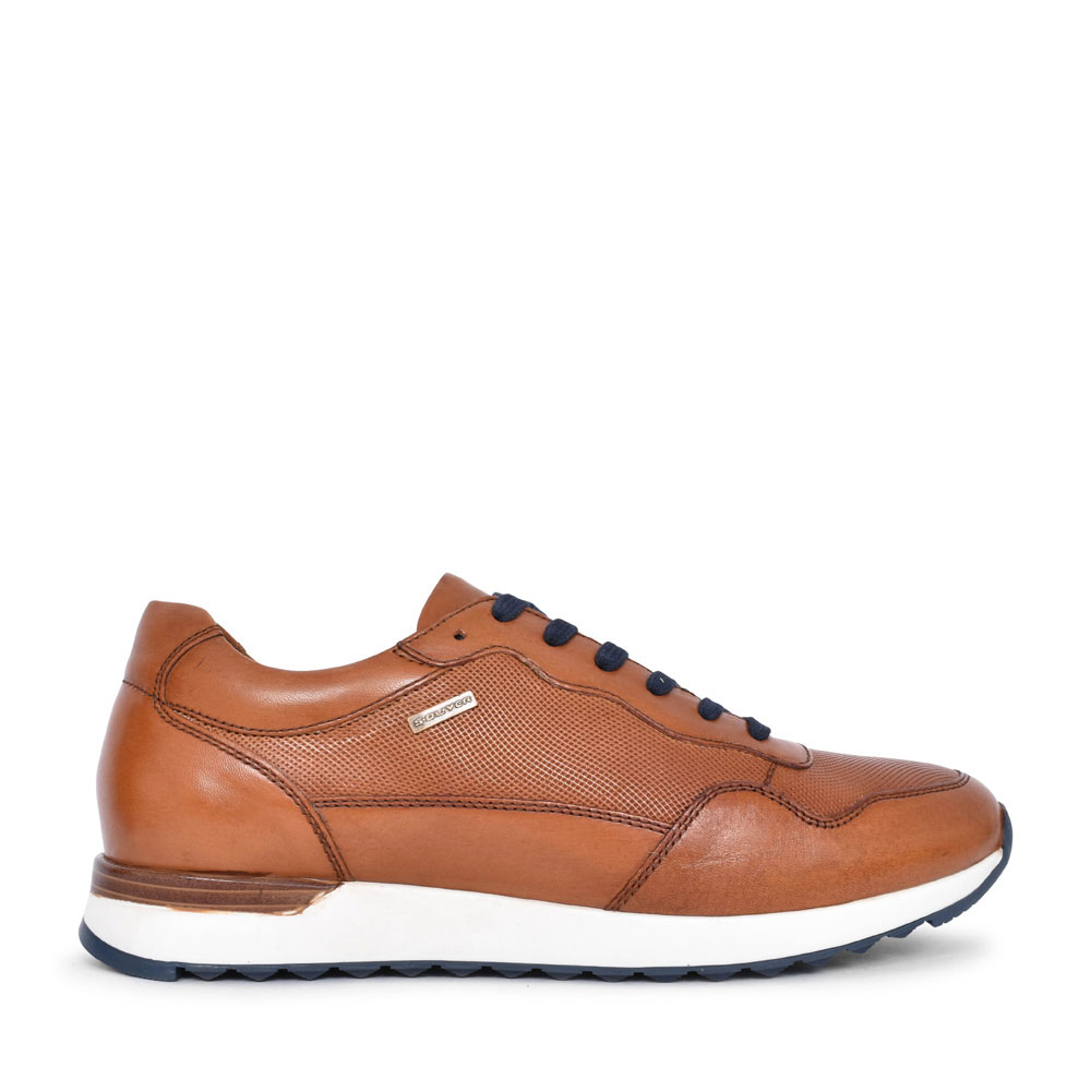 MEN 5-13627 CASUAL LACED TRAINER in TAN