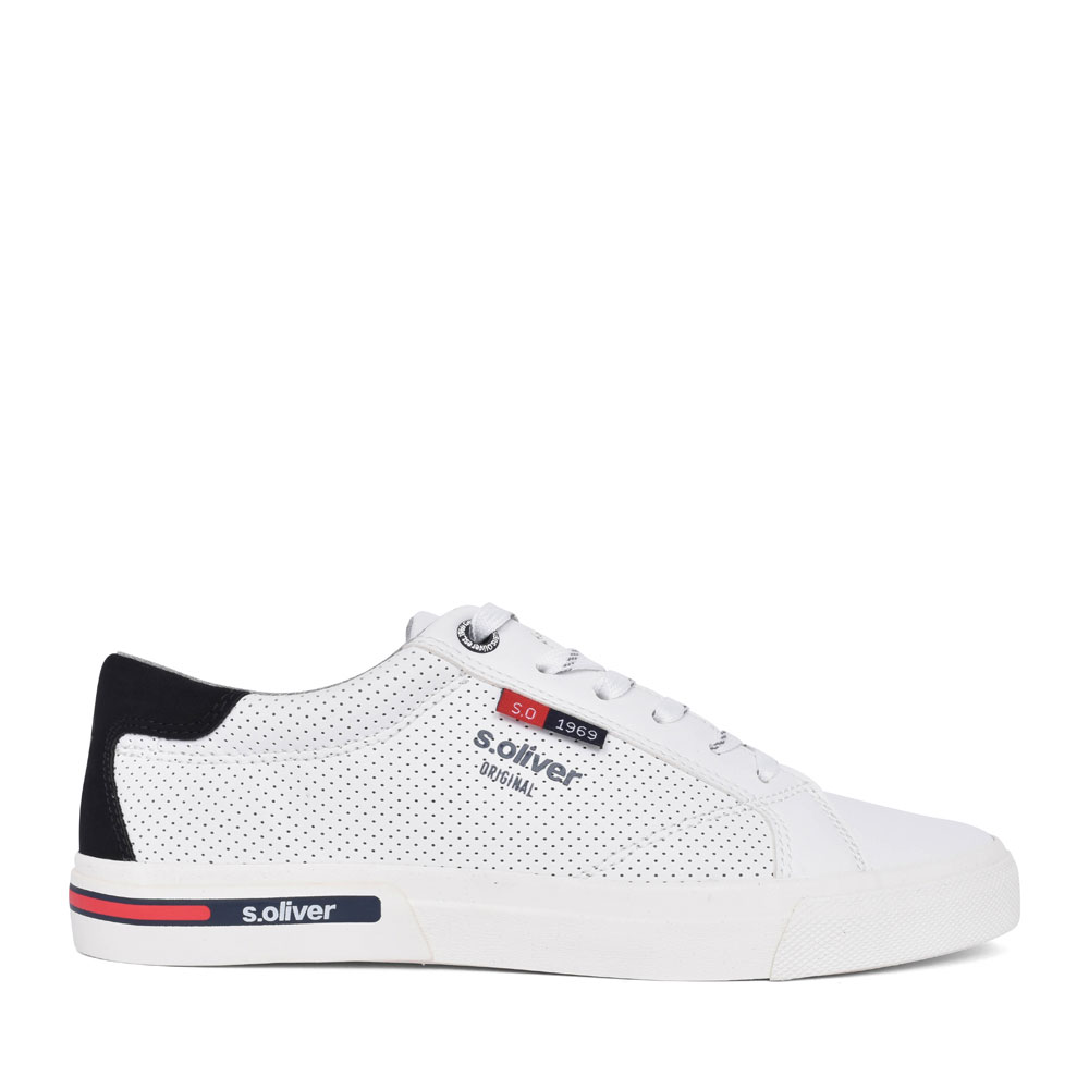 MEN'S 5-13630 CASUAL LACED TRAINER in WHITE