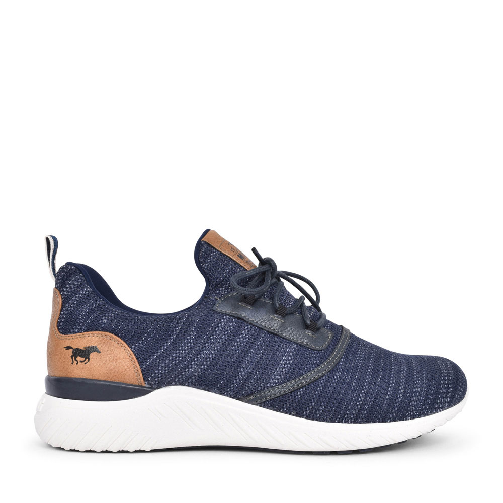 4132301 CASUAL LACED TRAINER FOR MEN in NAVY