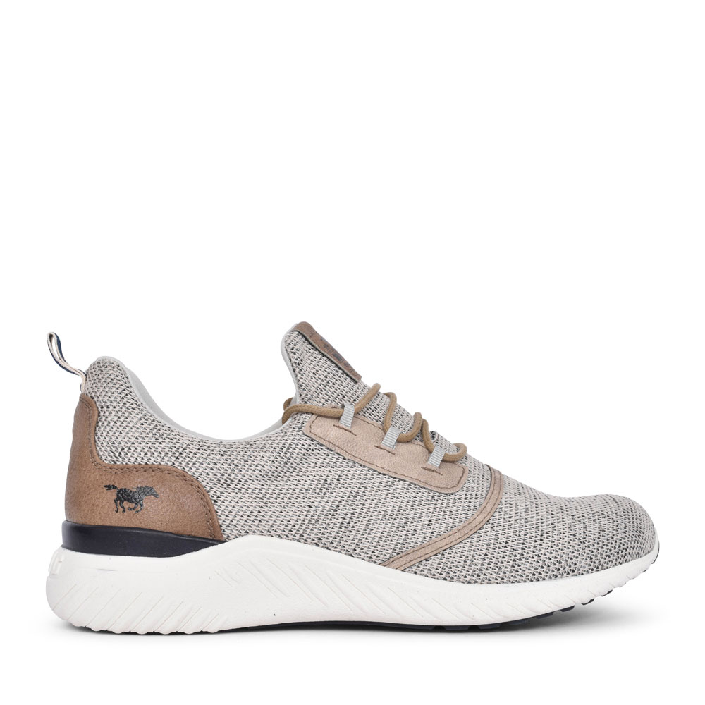 4132301 CASUAL LACED TRAINER FOR MEN in BEIGE