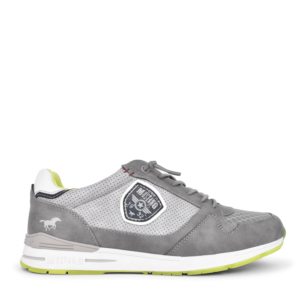 4154301 CASUAL LACED TRAINER FOR MEN in GREY