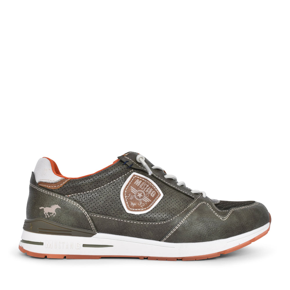 4154301 CASUAL LACED TRAINER FOR MEN in KHAKI