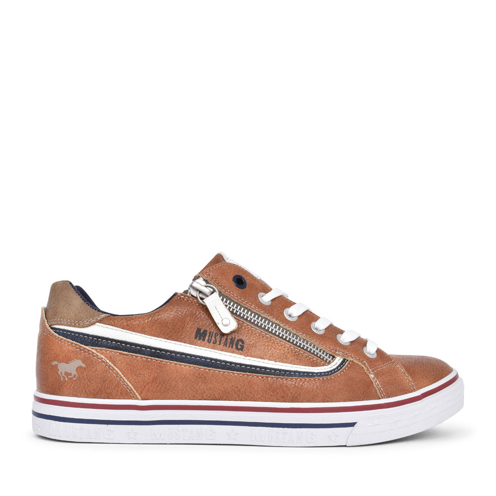MEN'S 4147301 CASUAL LACED TRAINER in TAN