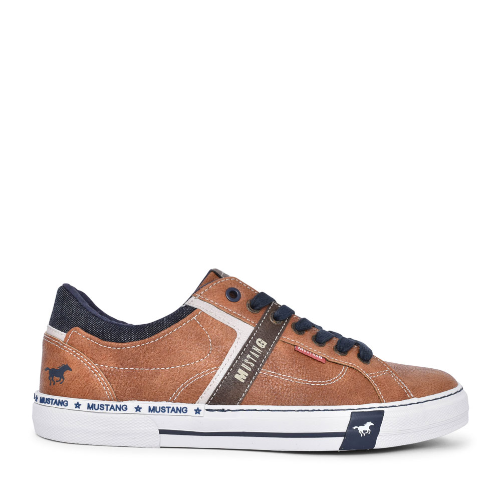 4146303 CASUAL LACED TRAINER FOR MEN in TAN