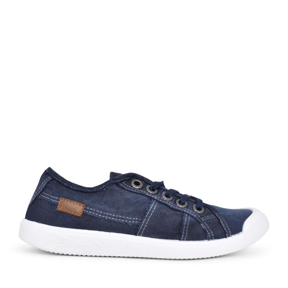 LADIES VESPER ZS-0835 CASUAL LACED TRAINER in NAVY