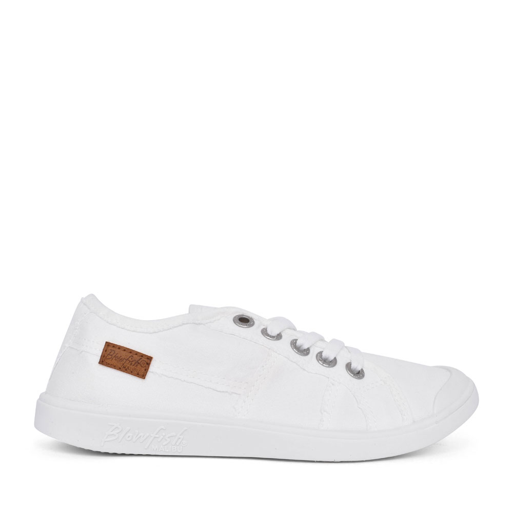 LADIES VESPER ZS-0835 CASUAL LACED TRAINER in WHITE