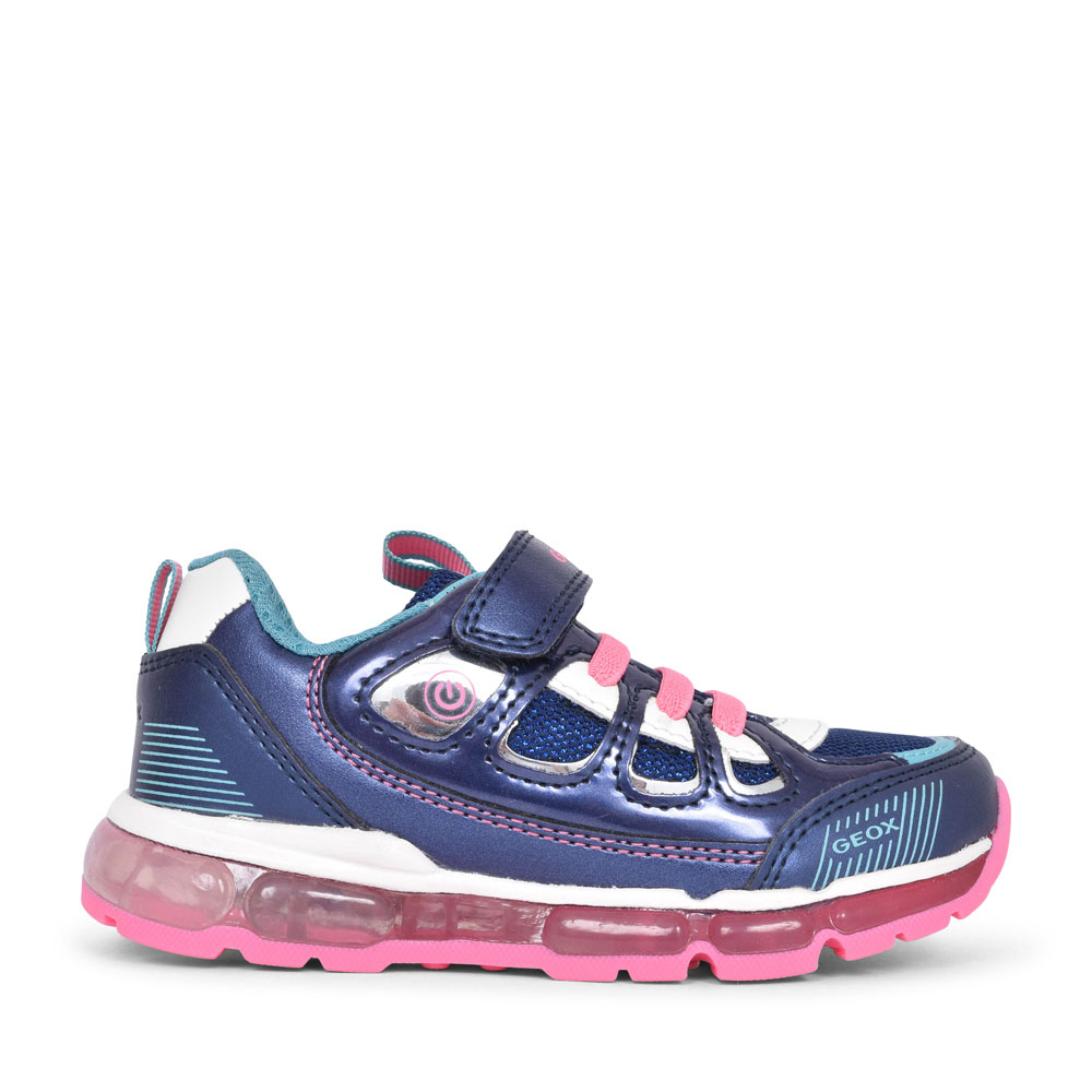 GIRLS J0245C ANDROID VELCRO TRAINER in NAVY