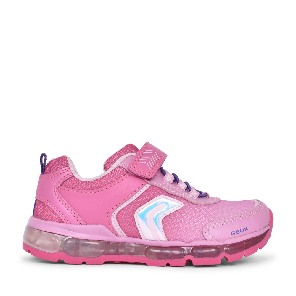 GIRLS J0245A ANDROID VELCRO TRAINER in PINK