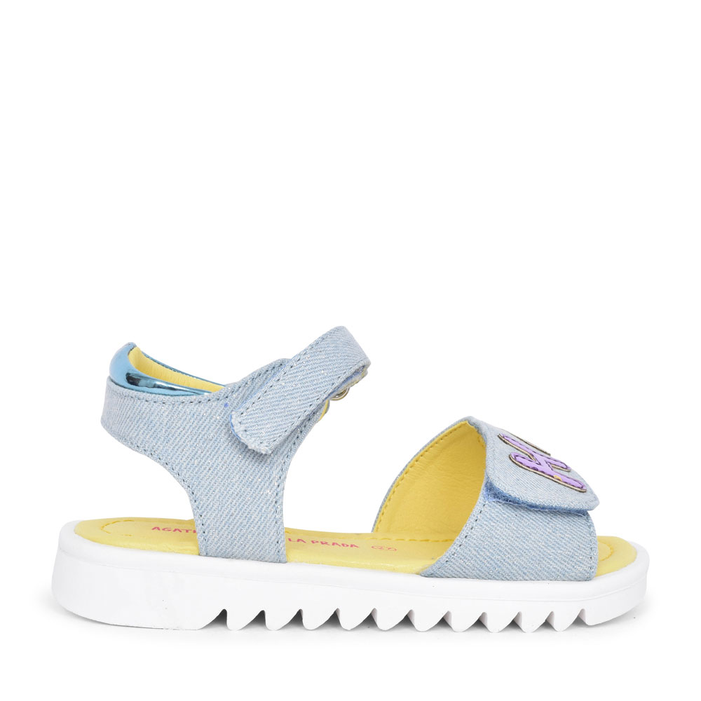 GIRLS 202960 HAPPY VELCRO SANDAL in DENIM