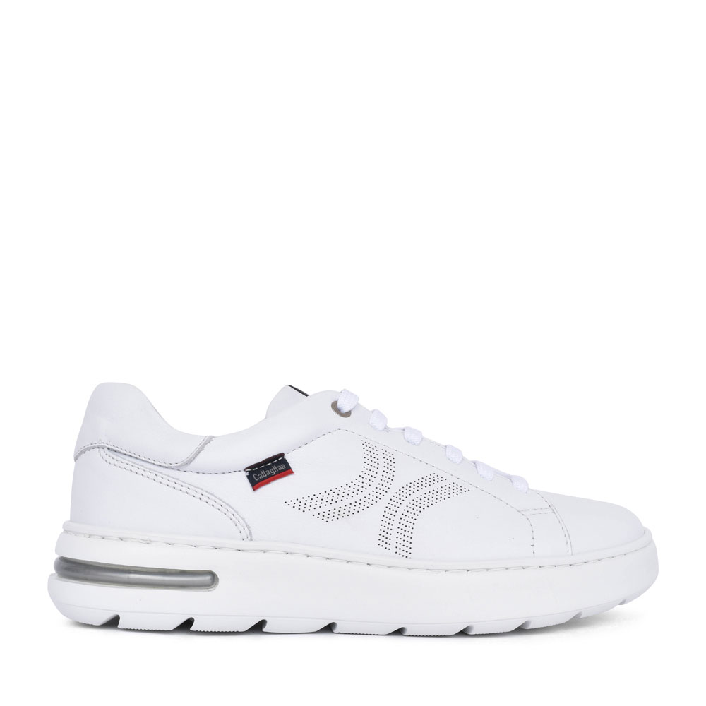 MEN'S 14100 CASUAL LACED TRAINER in WHITE