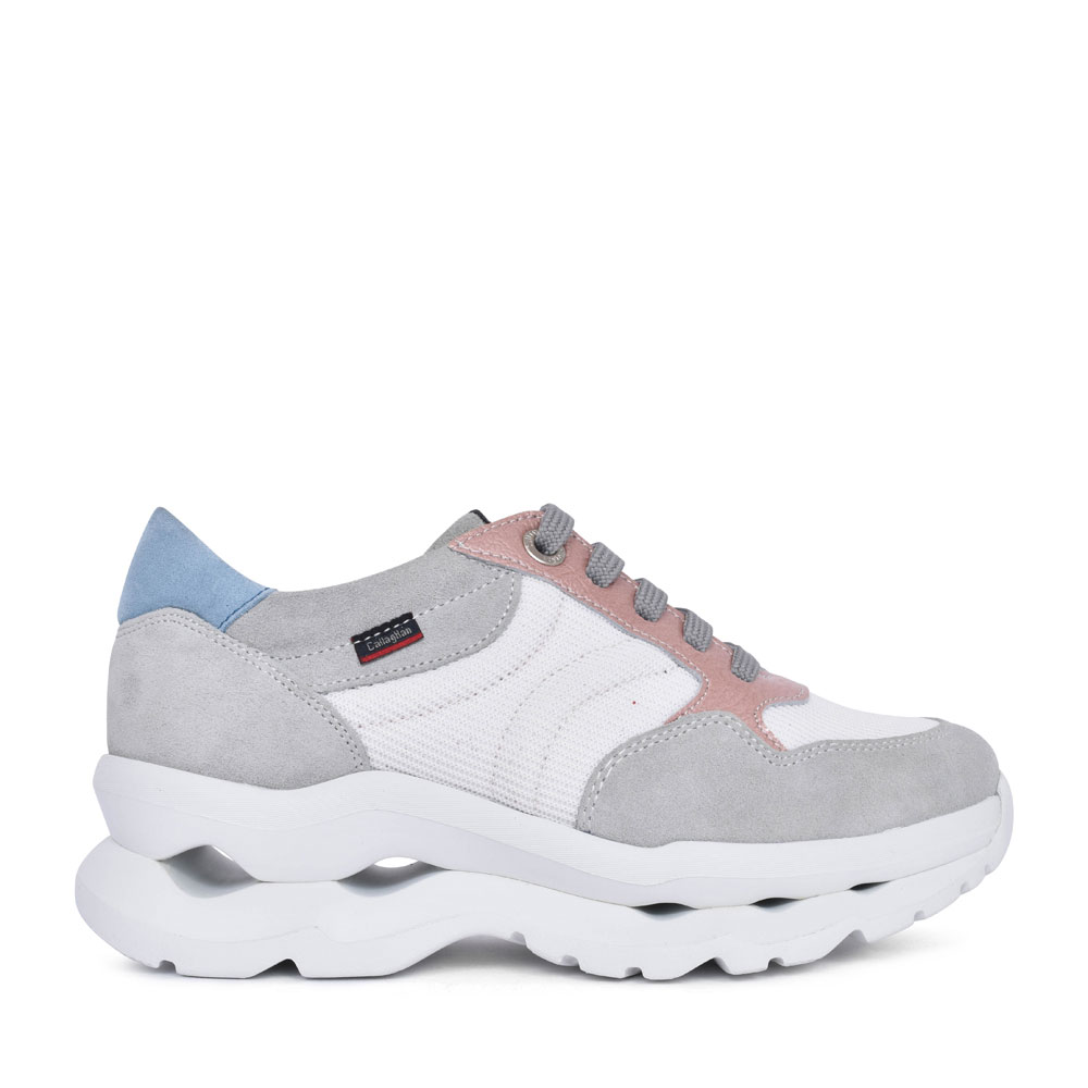 LADIES 18807 CASUAL LACED TRAINER in GREY
