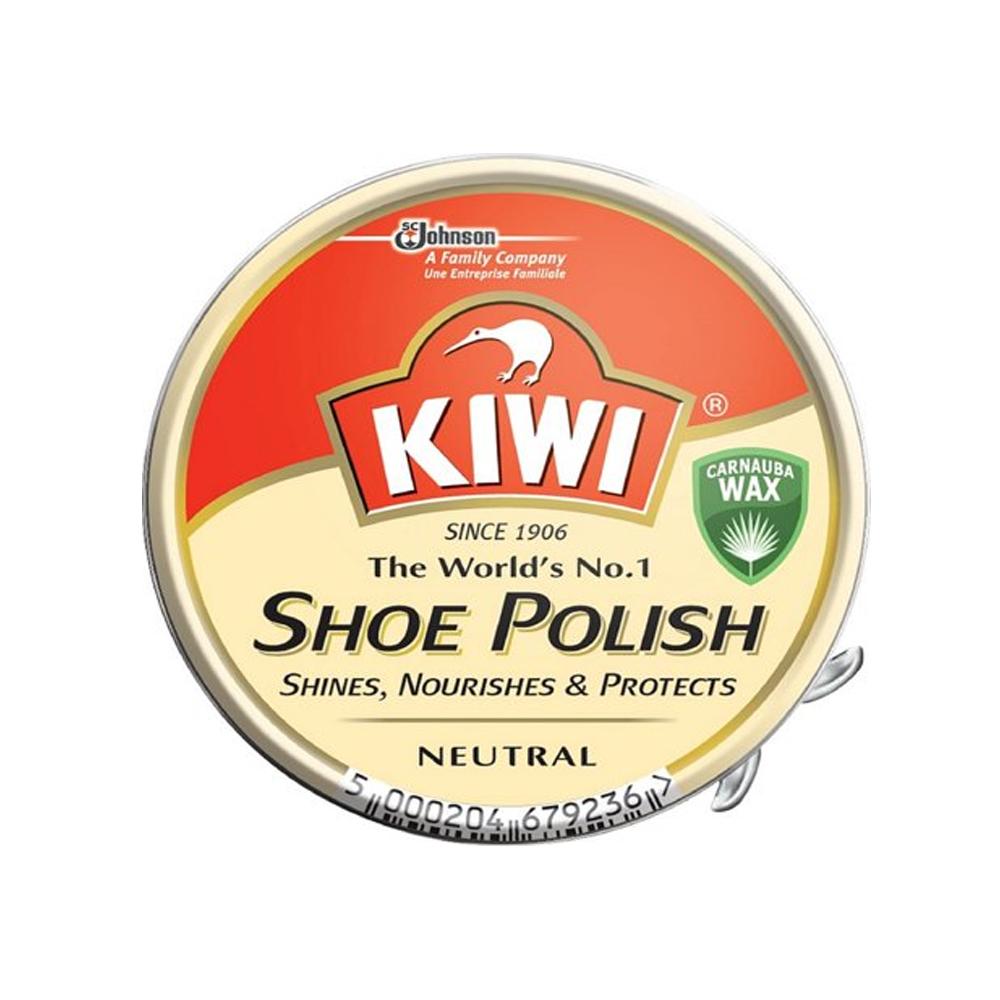 KIWI TRADITIONAL PASTE SHOE POLISH TIN in NEUTRAL