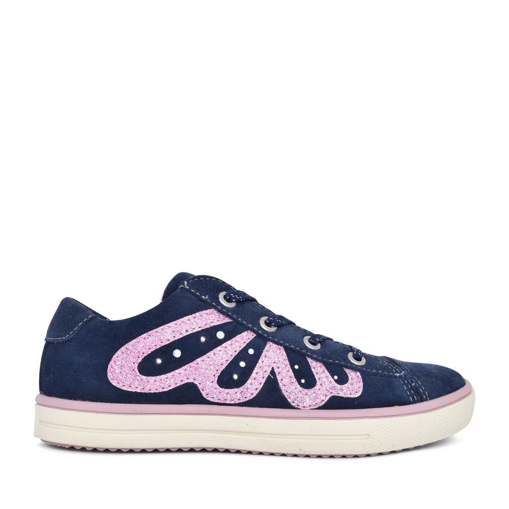 33-13656 EMBELLISHED LACED TRAINER FOR GIRLS in NAVY